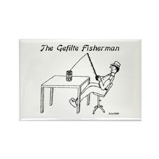 The Gefilte Fisherman Rectangle Magnet