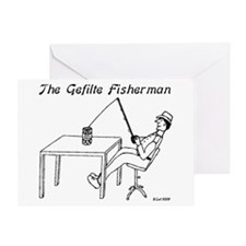 The Gefilte Fisherman Greeting Card