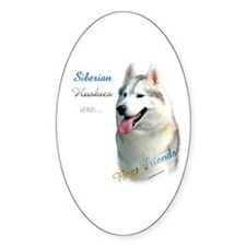 Husky Best Friend 1 Oval Sticker (50 pk)
