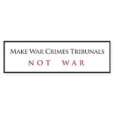 War Crimes Tribunal Bumper Bumper Sticker