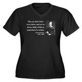 Emily Dickinson 16 Women's Plus Size V-Neck Dark T