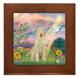 Cloud Angel /Spinone(11) (w) Framed Tile