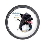 Staffy Best Friend 1 Wall Clock