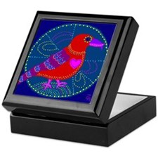 Red Crossbill Keepsake Box