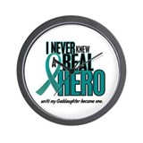 Never Knew A Hero 2 Teal (Goddaughter) Wall Clock
