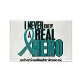 Never Knew A Hero 2 Teal (Granddaughter) Rectangle