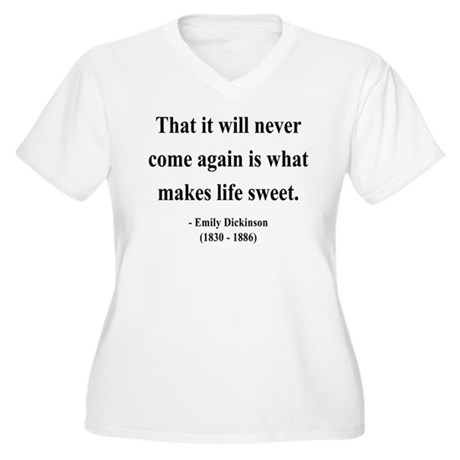 Emily Dickinson 12 Women's Plus Size V-Neck T-Shir