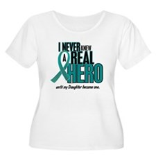 Never Knew A Hero 2 Teal (Daughter) T-Shirt