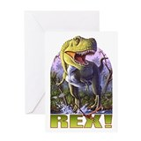 Green Rex 1 Greeting Card