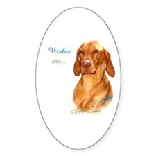 Vizsla Best Friend 1 Oval Sticker (10 pk)