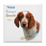 Welsh Springer Best Friend 1 Tile Coaster