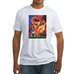 Mandolin Angel / Bull Terrier Fitted T-Shirt