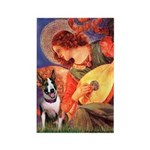 Mandolin Angel / Bull Terrier Rectangle Magnet (10