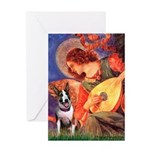 Mandolin Angel / Bull Terrier Greeting Card