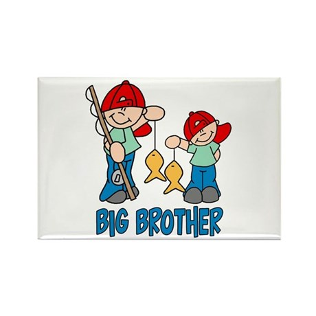 Fishing Buddys Big Brother Rectangle Magnet