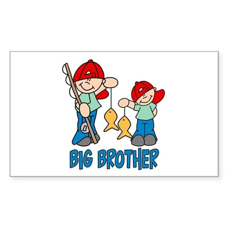 Fishing Buddys Big Brother Rectangle Sticker
