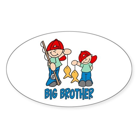 Fishing Buddys Big Brother Oval Sticker