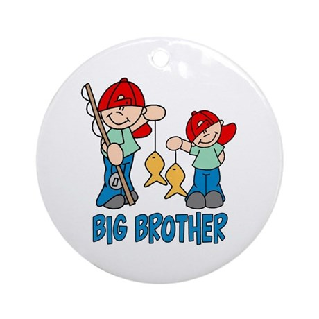 Fishing Buddys Big Brother Ornament (Round)