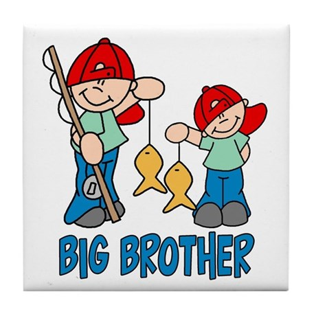Fishing Buddys Big Brother Tile Coaster