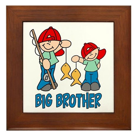 Fishing Buddys Big Brother Framed Tile
