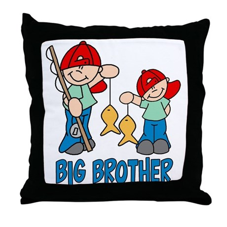 Fishing Buddys Big Brother Throw Pillow