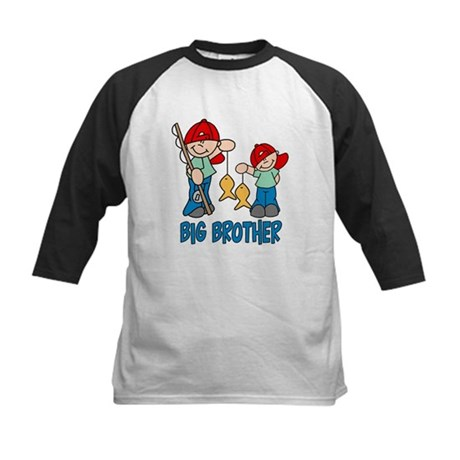 Fishing Buddys Big Brother Kids Baseball Jersey