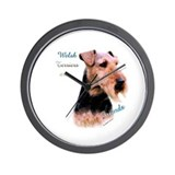 Welsh Terrier Best Friend 1 Wall Clock