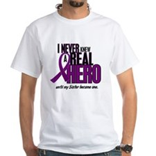 Never Knew A Hero 2 Purple (Sister) Shirt