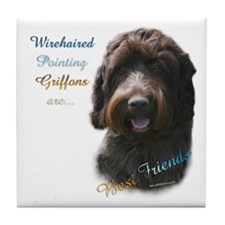 Wirehaired Best Friend 1 Tile Coaster