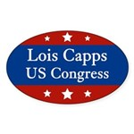 Lois Capps for Congress oval bumper sticker