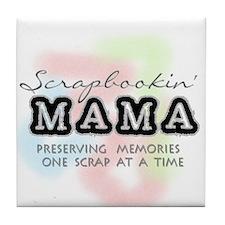Scrapbookin' Mama Tile Coaster