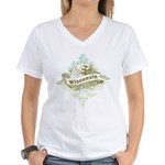 Eagle Wisconsin Women's V-Neck T-Shirt