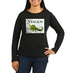 VEGAN Women's Long Sleeve Dark T-Shirt