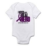 Never Knew A Hero 2 Purple (Mom) Onesie