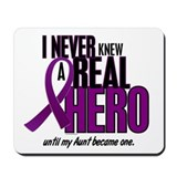 Never Knew A Hero 2 Purple (Aunt) Mousepad