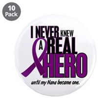 "Never Knew A Hero 2 Purple (Nana) 3.5"" Button (10"