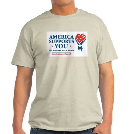 America Supports You! Ash Grey T-Shirt