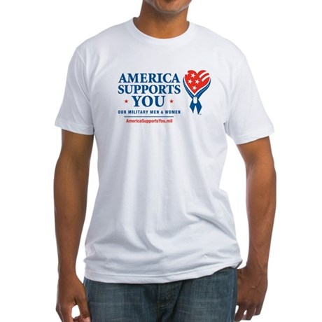 America Supports You! Fitted T-Shirt