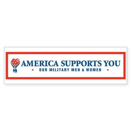America Supports You! Bumper Sticker