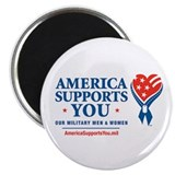 "America Supports You! 2.25"" Magnet (100 pack)"