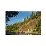 Eel River Cliff Rectangle Magnet