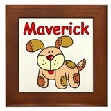 Maverick Puppy Framed Tile