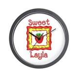 Sweet Layla Wall Clock