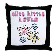 Cute Little Layla Throw Pillow