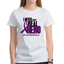 Never Knew A Hero 2 Purple (Grandma) Tee