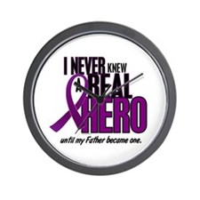 Never Knew A Hero 2 Purple (Father) Wall Clock