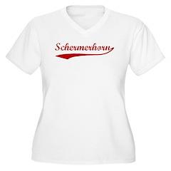 Schermerhorn (red vintage) Women's Plus Size V-Nec