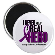 Never Knew A Hero 2 Purple (Father-In-Law) Magnet