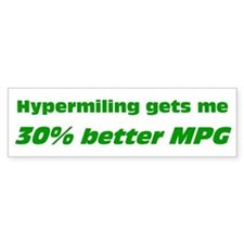 30% Better MPG Bumper Bumper Sticker