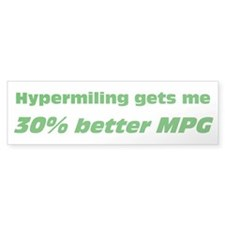 30% Better MPG Bumper Car Sticker